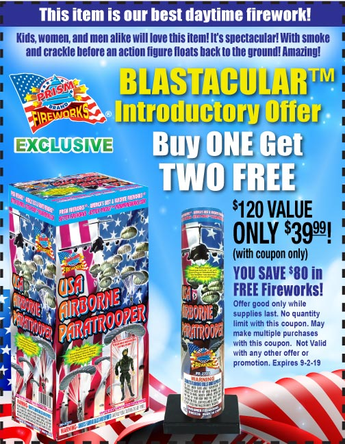 Buy One Get One Free USA Airborne Paratrooper (day-time firework